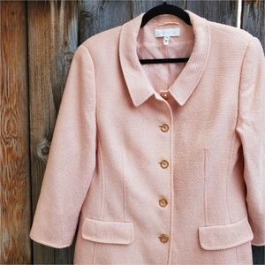 ESCADA Light Pink Textured Long Jacket